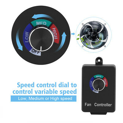 120V Active Air Duct Fan Variable Speed Controller Control For Exhaust Fans OB
