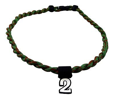 (Camoflauge) - Pick Your Number - Twisted Titanium Sports Tornado Necklace