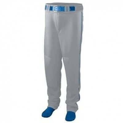 Youth Series Baseball/Softball Pant with Piping - GREY and ROYAL - X-LARGE