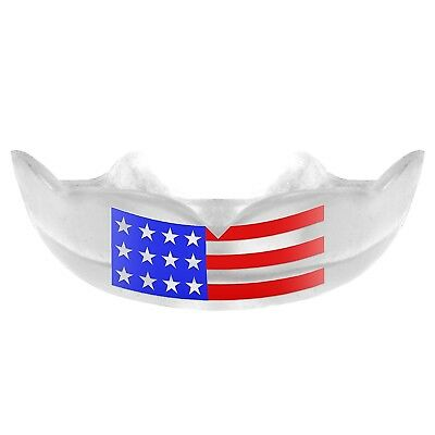 (Adult) - American USA Flag Mouth Guard w/ Free Storage Case by Warrior Mouthgua