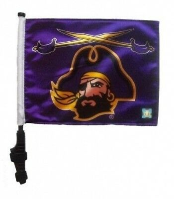 East Carolina Pirates Golf Cart Flag with Ez On and Off Bracket. SSP Flags Inc