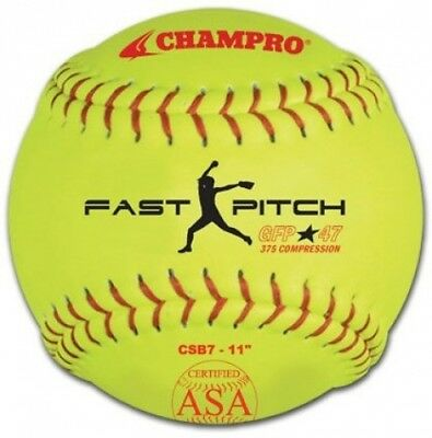 Champro Sports Yellow ASA Fast Pitch Game Softballs. Free Delivery