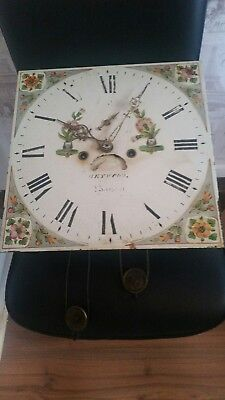 Antique Grandfather ClockMovement Dial and Face only