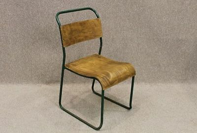 Vintage Industrial Stacking Chair Brighton Plywood School Chair