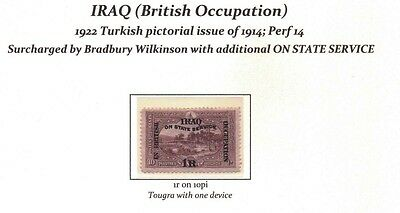 IRAQ SG O32 Official - Fresh appearance; mounted mint POST FREE IN UK