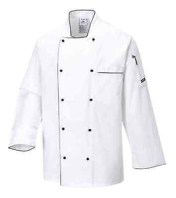 Portwest C775 Cambridge Men Chef Jacket Long Sleeve Catering Restaurant Workwear