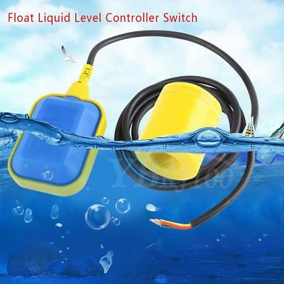 "Float Switch Liquid Fluid Water Level Controller Contactor Sensor 250V 75"" Cable"