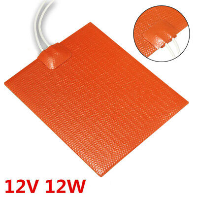 12V 12W Silicone Rubber Pad Heating Constant Temperature Plate Strip 100*120mm