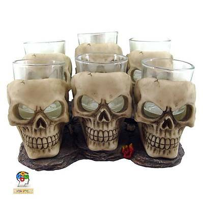 Party Drink Night Out Six Shooter Glass Skulls 10 cm (set of 6) Gothic Fantasy