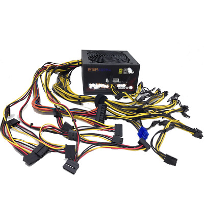 2019 1600W Power Supply For 6GPU Eth Rig Ethereum Coin Mining Miner90 Gold