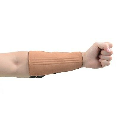 (Brown (Arm Guard)) - XTACER 3 Fingers Glove & 3-Strap Arm Guard Ventilated