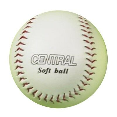 Central Rounder's Sports Synthetic Leather Training Softball Ball. Noburst