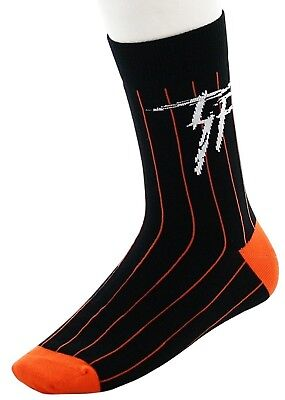 (One Size, Black) - TRUKFIT Men's Pinstripe Socks. Free Delivery