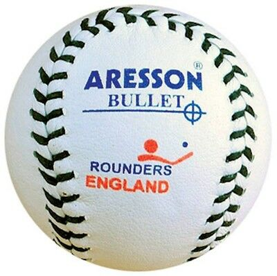 Aresson Bullet Rounders Sports Practise & Training Hard Ball Stitched White