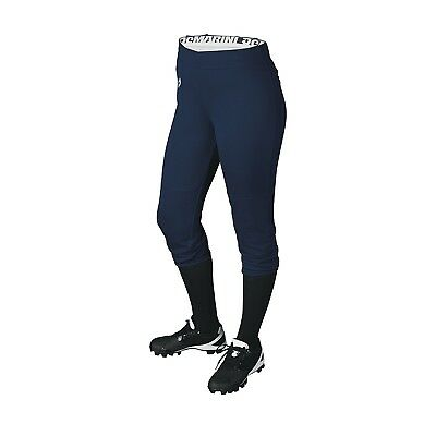 (Large, Navy) - DeMarini Girls Sleek Pull Up Pant. Huge Saving