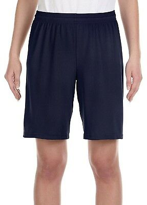 (X-Large, Sport Dark Navy) - Alo Sport Y6707 Youth Mesh 9 Short. Free Shipping