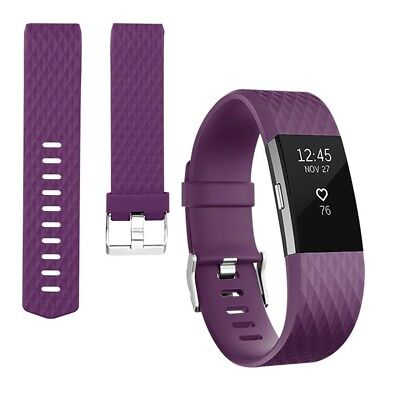 (Small, 1PC (Plum)) - Vancle Bands for Fitbit Charge 2, Adjustable Replacement A