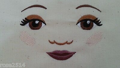 Doll Making Machine Embroidered Dolls Face  Perfect For Sewing Crafts