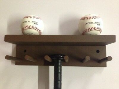 Baseball Softball Bat Rack Display Meant to Hold up to 5 Full Size Bats and 3 Ba