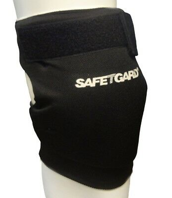 (Small, Black) - SafeTGard Short Sliding Leg Pad(Available in 5 Colours)