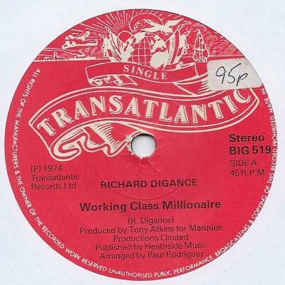 "Richard Digance - Working Class Millionaire - 7"" Single"