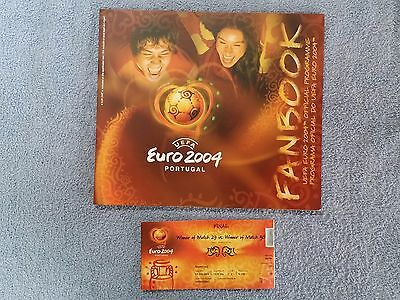 2004 - Official Euro 2004 Tournament Programme + Original Match Ticket For Final