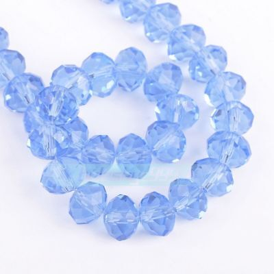 Favorite 100pcs 4x6mm Crystal glass Loose Beads-lightblue AB FREE SHIPPING