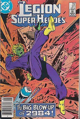 The Legion Of Super-Heroes #311 Dc 1984 Big Blow-Up Of 2984!