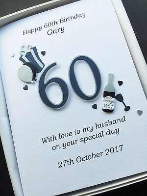 Personalised 60th Birthday Card For Men Dad Husband Son Handmade