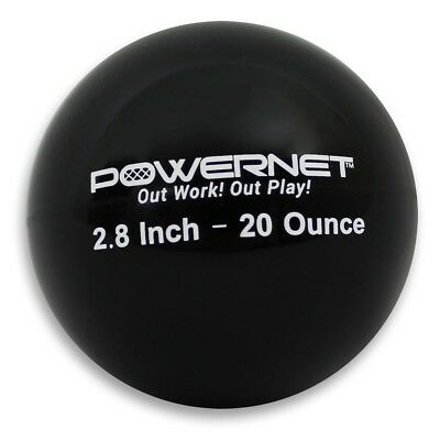 (20 Oz - Black) - PowerNet 7.1cm Weighted Hitting and Batting Training Ball (6 p