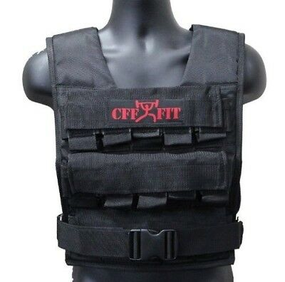 CFF 30 Kgs / 30kg Adjustable Weighted Short Vest (Shell Only - Weights Not Inclu