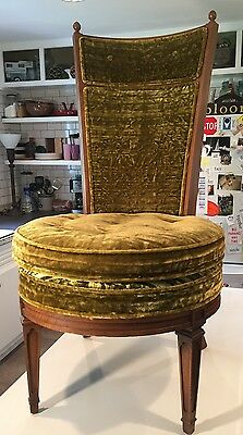 Unique! One of a KIND! Vintage - Mid Century Modern- Green Velvet Chair - VGC