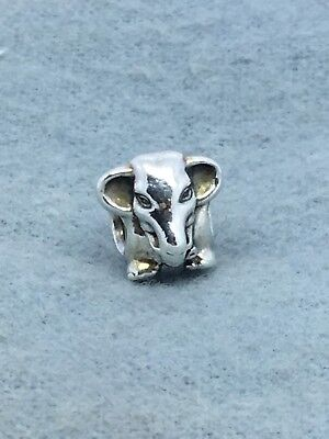 Authentic PANDORA Sterling Silver LUCKY ELEPHANT Charm 791130 RETIRED