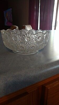 Beautiful antique cut glass bowl