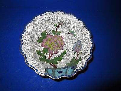 Cloisonne Schale Email  China Japan Blume