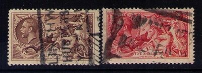 Great Britain Stamps KGV Seahorse Sc# 173-74 Used