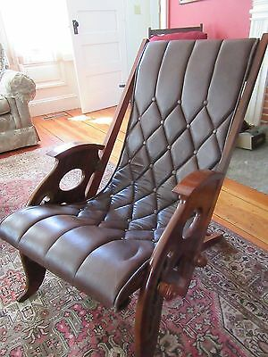 Antique Cruise Boat Deck Chair circa 1920's Original Refinished