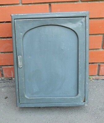 Vintage Metal Cabinet, Mid Century Apothecary Wall Hanging Cabinet Industrial