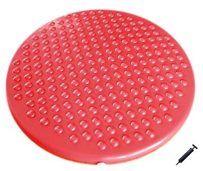 Jr. Inflatable Seat Cushion with Pump, 31cm/12in Diameter for Kids, Pink. Free D