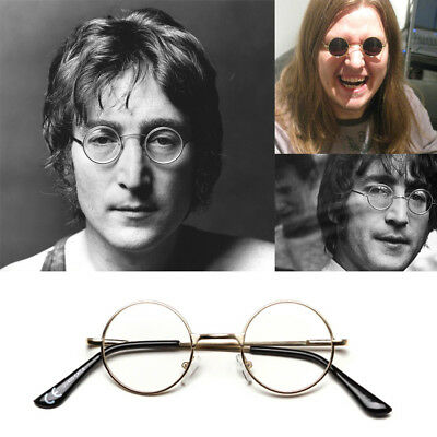 Extra Small Original Hippie Style Round Lennon Ladies Mens Clear Lens Glasses