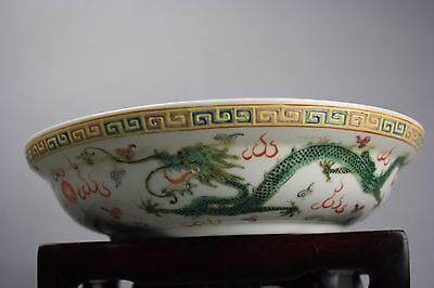 18th/19th C. Chinese Famille-rose Dragons Bowl