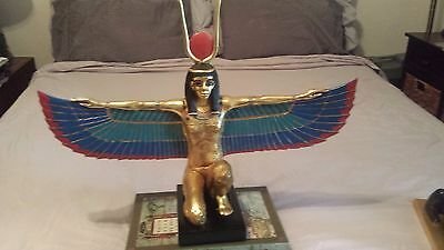 Egyptian Winged Isis Kneeling winged Sculpture Ancient Egypt God Statue large