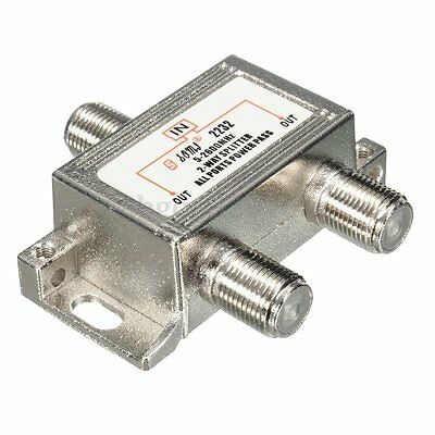 Two Way 5-2600mhz TV Satellite Cable Splitter for Virgin Sky Antenna Signal #135