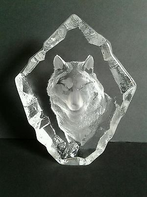 Wolf Crystal Sculpture - Signed/numbered Edition By Mats Jonasson