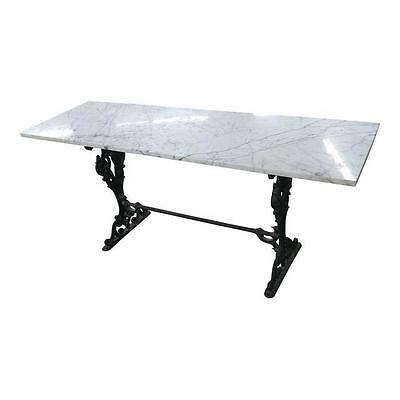 19th century French Iron & Marble top Pastry Table -Gorgeous !