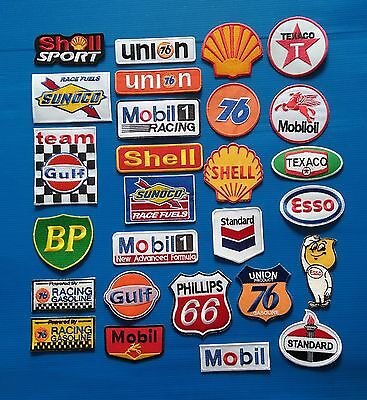 27 LOT GAS OIL Embrodered Iron Or Sewn On Patches Free Ship