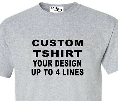 Custom T Shirt Your Design Your Text Here Lot 1300# 16 Shirt Colors SM - 6X