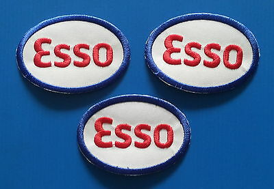 3 ESSO 3.25 X 2.25  Inch Embrodered Iron Or Sewn On Patches Free Ship