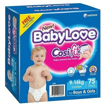 Babylove Cosifit Nappies Toddler Jumbo Pack 75