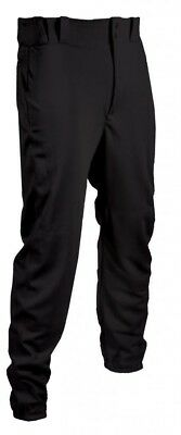 (X-Large, Black) - TAG Youth Baseball Pant with Belt Loops (Elastic Bottoms). Fr